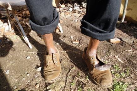 Feijões no sapato…